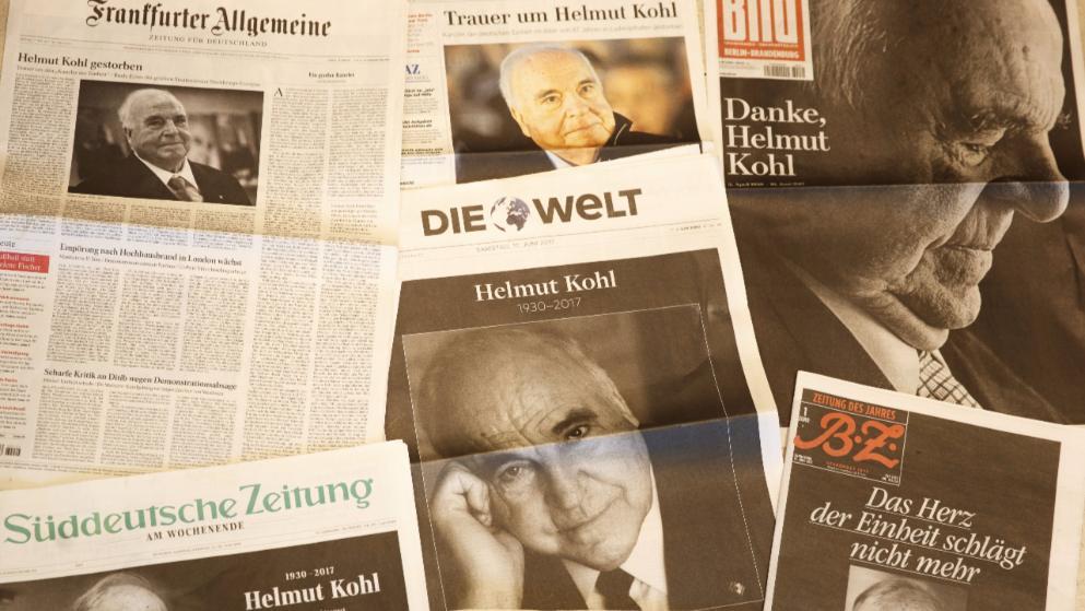 A teljes német sajtó Helmut Kohlt gyászolja