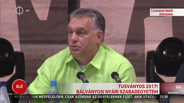 Tusványos - Orbán: a jövő évi választás tétje, hogy végre tudják-e hajtani a Soros-tervet, le tudják-e bontani a kerítést
