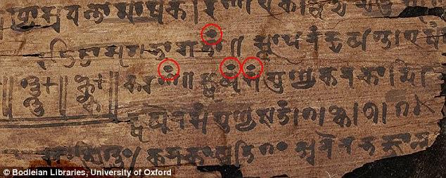 Az eddig ismertnél jóval idősebb Bakhsáli kéziratban jelent meg a legelső ismert nulla szám