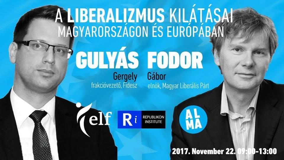 A liberalizmusról vitázott Fodor Gábor és Gulyás Gergely