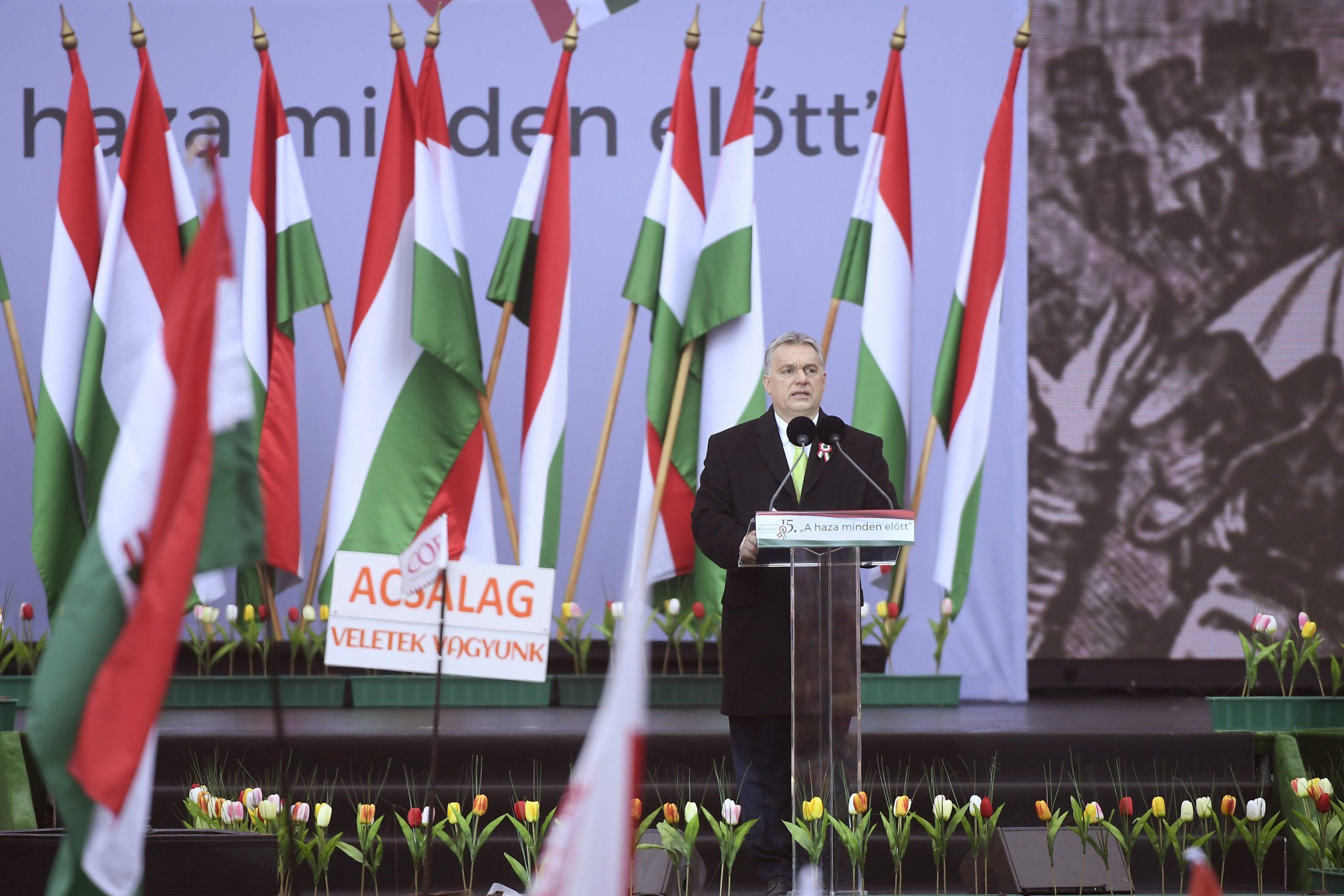 Orbán: ez a mi hazánk, ezért küzdeni fogunk érte a végsőkig