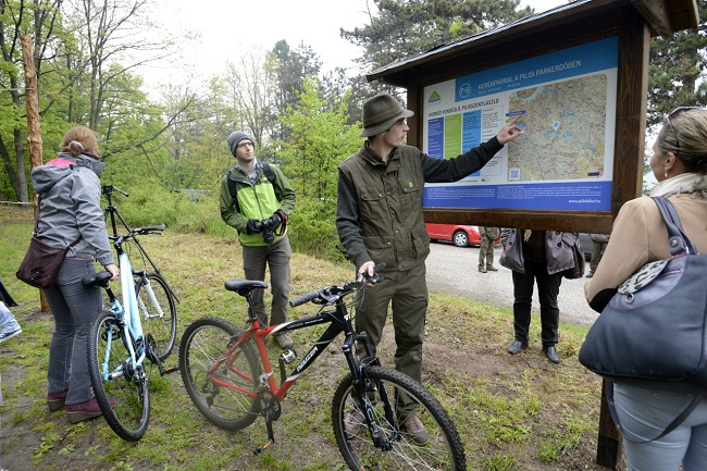Turistautak ellenőrzése a Pilisi parkerdőben