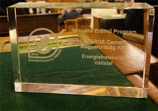 Energiahatékony Vállalat Díjat nyert a Lafarge