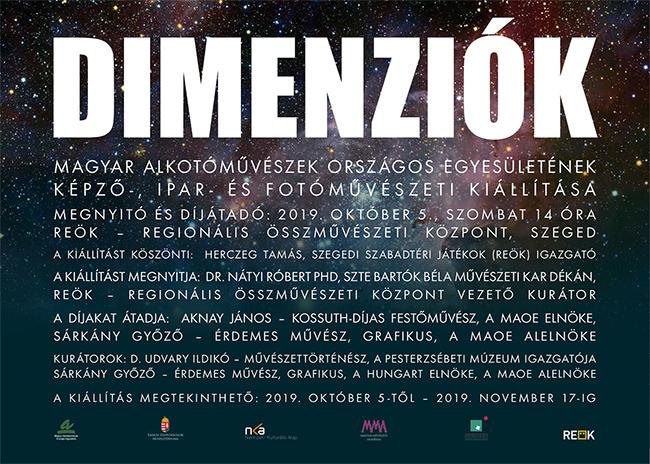 Dimenziók - képző-, ipar- és fotóművészeti kiállítás Szegeden