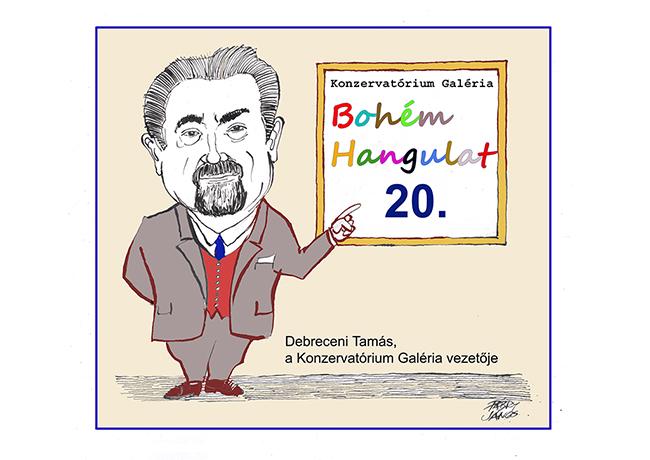 Bohém Hangulat - karikatúra kiállítás Debrecenben